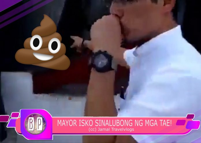 Mayor Isko Moreno SINALUBONG ng mga Tae sa may City Hall